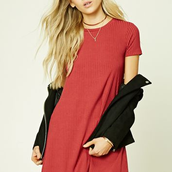 V-Cut Back Mini Dress