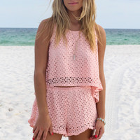 Blushing Lovebird Blush Lace Set