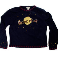 Across The Moon Ugly Christmas Sweater | ugly sweater