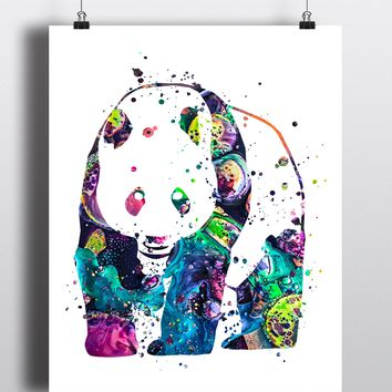 Panda Watercolor Art Print - Unframed
