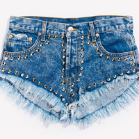 Vegas Acid Studded Babe Shorts