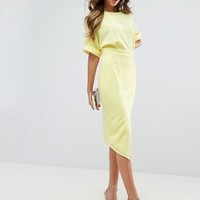 ASOS Wiggle Dress with Split Front at asos.com