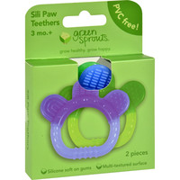 Sili Paw Teether - 2 Pack Assorted