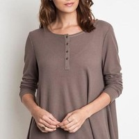 Lakin Thermal Knit Henley (More Colors!) FINAL SALE!