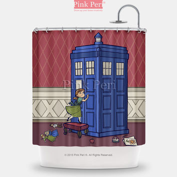 Doctor Who Disney Princess Young Anna Shower Curtain Home & Living 237
