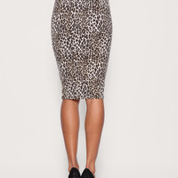 ASOS | ASOS Leopard Print Jersey Pencil Skirt at ASOS