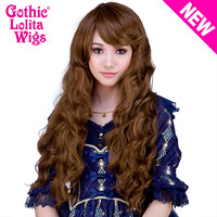 Gothic Lolita Wigs®  Classic Wavy Lolita™ Collection - Golden Chestnut Brown Mix -00496