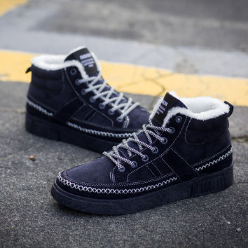 Stylish On Sale Hot Sale Comfort Hot Deal Casual Men's Shoes Cotton Shoes Korean Thicken Sneakers [9462350279]