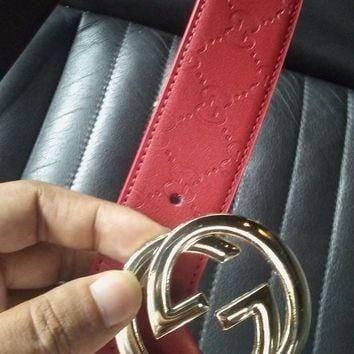 Gucci Belt, Red Authentic