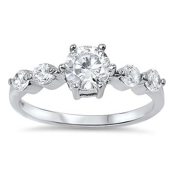 A Perfect 1.6CT Round Cut Solitaire Russian Lab Diamond Engagement Wedding Anniversary Ring