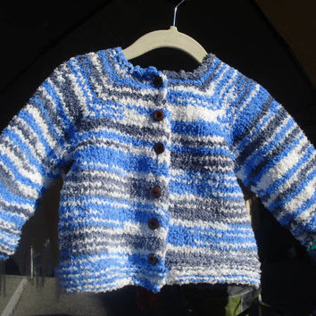 Ready to ship/ Best QUALITY Baby Toddler Size Cardigan Sweater Jacket handmade knit from towel coral velvet yarn