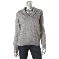 Karen Scott Womens Marled Raglan Sleeves Pullover Sweater