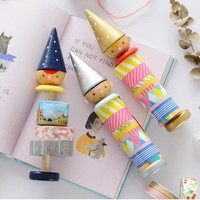 Kawaii boy adhesive tape holder for decorate DIY washi tape sticky Scrapbooking masking tape stationery Tape Dispenser  02462
