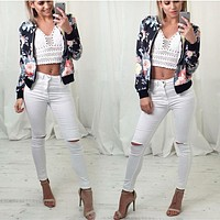 Print Hot Sale Long Sleeve Jacket [11182506823]