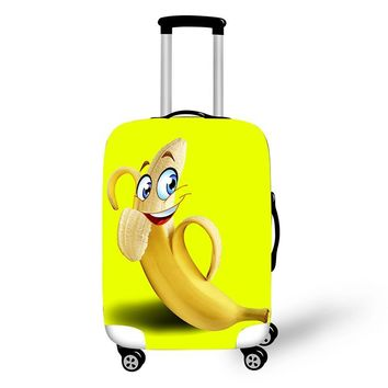 3D Print Cute Banana Luggage Protective Covers Elastic Suitcase Cover Travel 18 To 28 Inch Luggage Cover Dust Protection Cover