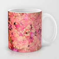 Two Different Worlds -- Floral Pattern Mug by Ramo