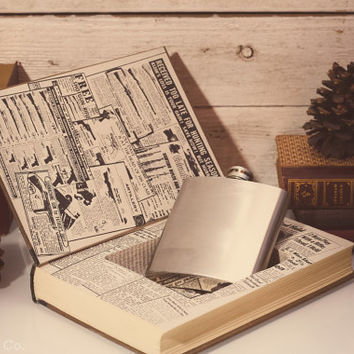 Hollow Book Safe & Secret Flask - The Right To Bear Arms
