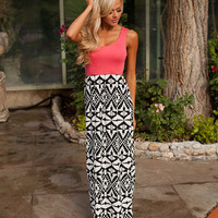 Kisses At Sunset Maxi Coral