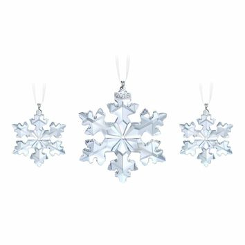 Swarovski Christmas SNOWFLAKES 2016 Ornaments Set of 3 #5222332