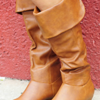 Let's Go For A Ride Boots: Cognac | Hope's