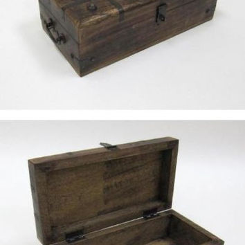 Pirate Chest - Antique Pirate Treasure Chest With Iron Inlaid