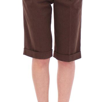 Brown cotton shorts pants