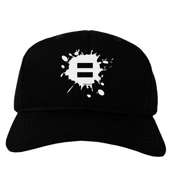 Equal Paint Splatter Adult Dark Baseball Cap Hat by TooLoud
