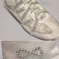 Rhinestoned nfinity cheer shoes