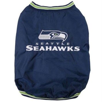 spbest Seattle Seahawks Pet Sideline Jacket