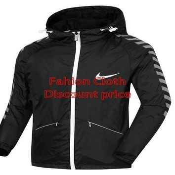 Nike Windrunner Jacket 8098 L-4XL 2018 Nike New Style Clothing Black