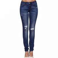 Hole Ripped Jeans Women Jeans Stretch Skinny