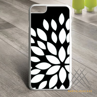 Black Flower Silhouette Custom case for iPhone, iPod and iPad