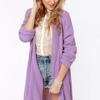 Knits Fine By Me Oversized Lavender Sweater