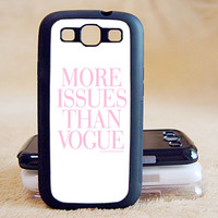 More issue than vogue, Samsung Galaxy S3,Samsung,Galaxy,S3,Case,Shell,Galaxy Case,Samsung Case,Galaxy S3,Galaxy S3 Case