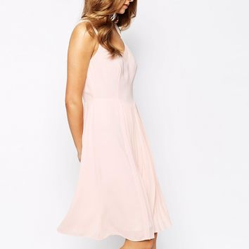 Reiss Cohle Dress in Silk with Pleated Front
