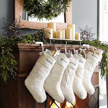 Ombre Faux Fur Stocking