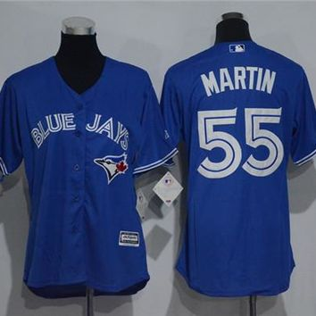 Women's Toronto Blue Jays #55 Russell Martin Cool Base Player Jersey