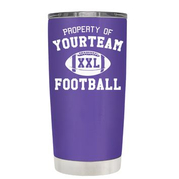TREK Custom Property of Team Football on Purple 20 oz Tumbler Cup