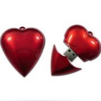 Heart Shaped Necklace Style USB 2.0 Flash Drive  (64GB)