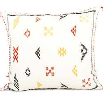 Moroccan Cactus Silk Pillow III