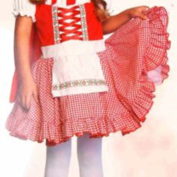 Leg Avenue Enchanted Girls XS Lil Miss Red Halloween Costume 3T-4T