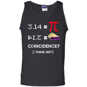 Pi Equals Pie Funny Math Pun Pi Day  Tank Top