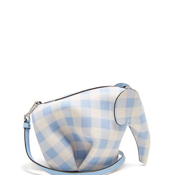 Elephant gingham leather cross-body bag | Loewe | MATCHESFASHION.COM UK