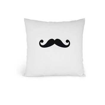 Mustache Pillow  Black/Brown/Blue/Red/Purple by zzzAfternoon