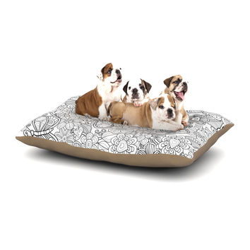 """Julia Grifol """"My Butterflies and Flowers in Black"""" Dog Bed"""