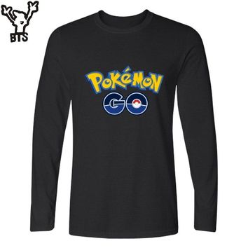 BTS Anime  Go T-shirts Men Funny T Shirts Brand Cotton with go Men TShirt Funny Brand in Pocket Monster Tee TopKawaii Pokemon go  AT_89_9