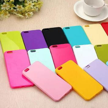 Fashion Case For Coque iPhone X 4 4s 5 5s 5c 6 6s Plus 7 7Plus Cases Capa Soft TPU Silicone Capinha Back Cover Candy Color Funda