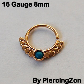 Septum ring sale / Nose ring 14k Yellow Gold filled, 18g 6m sunset  ethnic jewelry, Helix, Tragus, Eyebrow, face piercing