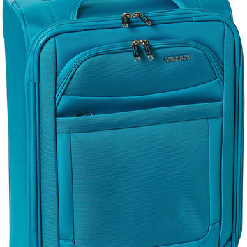 American Tourister Ilite Max Softside Spinner 21 Carry On Luggage Light Blue One Size '