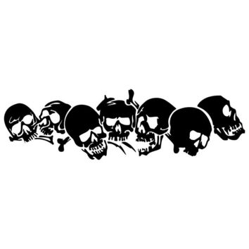 22.8*6.7CM SKULL Vinyl Car Stickers Motorcycle Decals Car Styling Accessories C2-0608
